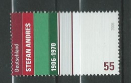 Germany  2006 The 100th Anniversary Of The Birth Of Stefan Andres, 1906-1970 MNH - [7] République Fédérale