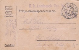 Feldpost  K.k. Landessch. Reg. No. 1 - 1916 (35280) - 1850-1918 Imperium
