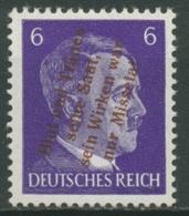 Mühlberg (Elbe) 1945 Freimarke Mit Aufdruck 6 A Mit Falz - Unclassified
