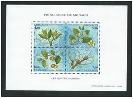 Monaco - Y&T Bloc N°68** - 1995 - Les Quatre Saisons Du Jujubier - Blocs