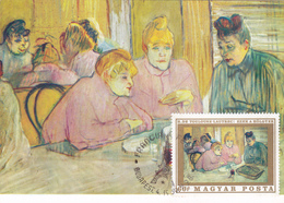Carte-Maximum HONGRIE N° Yvert 2045 (TOULOUSE-LAUTREC) Obl Sp Ill 1er Jour 1969 - Maximumkaarten