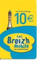 CARTE-µ-BREIZH MOBILE-RECHARGE GSM-10€-30/12/2008-TBE - France