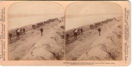 CHINE CHINA AMERICAINS MURAILLE DE BOUE PHOTOS STEREO SUR CARTON 1900 UNDERWOOD ( - Chine