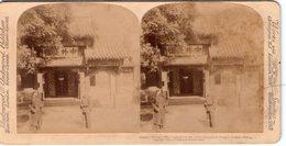 CHINE CHINA Entée Du Tsung-Li Yamen Pekin  PHOTOS STEREO SUR CARTON 1900 UNDERWOOD ( - China