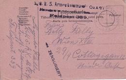 Feldpostkarte - K.u.k. 5. Armeekommado QuABT - Feldpost 339   - 1916 (35285) - 1850-1918 Imperium