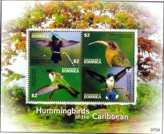 HUMMING BIRDS OF THE CARIBBEAN-MS-DOMINICA-2007-LIMITED ISSUE-SCARCE-MNH-M2-139 - Hummingbirds