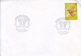 JORNADA FILATELICA. 30° ANIV DEL PRIMER TITULO MUNDIAL DE FUTBOL ARG 78. OBLIT ITUZAINGO 2008. ENVELOPE SOBRE.- BLEUP - World Cup