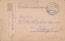 Feldpostkorrespondenzkarte K.u.k. Kreisgendarmeriekommando Posten Pozega - 1917 (35289) - 1850-1918 Imperium