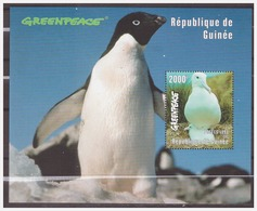 0830 Guinee 1998 Birds Albatros Pinguin Penguin S/S MNH - Marine Web-footed Birds