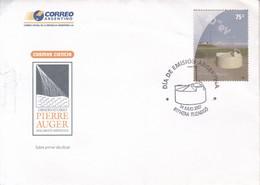 FDC. COSMOS CIENCIA.OBSERVATORIO PIERRE AUGER, MALARGÜE MENDOZA. OBLITERE ITUZAINGO 2007. ARGENTINA.- BLEUP - FDC