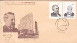 """MUESTRA 80° ANIV DE """"EL HOGAR OBRERO"""". JUAN B JUSTO 1865-1928. OBLIT BS AS 1985. ARGENTINA- BLEUP - Argentina"""