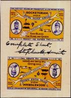 CINDRELLA-ROCKETGRAM INDIA-TETE-BECHE-FULL SHEET-SIGNED BY STEPHEN SMITH-BRITISH INDIA-1935-RARE-MNH-PA3-18 - Erinnofilia