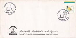 FEDERACIOB NETROPOLITANA DE AJEDREZ 40° ANIV. FESTIVAL MIGUEL NAIDORF. OBLIT BS AIRES 1998. BORD DU PL. ARGENTINA- BLEUP - Chess