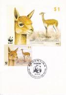 CARD. WWF WORLD WILDLIFE FUND. VICUÑA VICUGNA VICUGNA. 2002. ARGENTINA- BLEUP - Maximum Cards