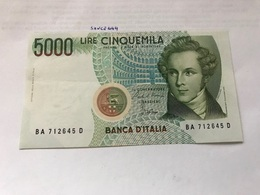 Italy Bellini Uncirculated Banknote 5000 Lira #1 - [ 2] 1946-… : Repubblica