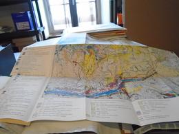 CARTE ECOLOGIQUE DES ALPES AU 1/100 000 MOÛTIERS - PARC NATIONAL DE LA VANOISE 1972 P. GENSAC - Maps