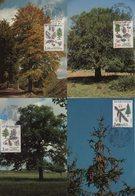 Carte Maximum - Nature De France - Lot De 4 Cartes - 1980-89