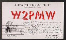 QSL Card New York To England 1946 - Radio Amateur