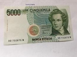 Italy Bellini Uncirculated Banknote 5000 Lira #3 - [ 2] 1946-… : Repubblica