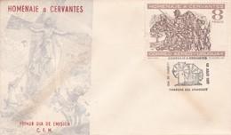 FDC. HOMENAJE A CERVANTES. URUGUAY.-TBE-BLEUP - Uruguay