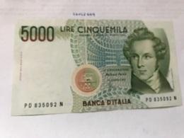 Italy Bellini Uncirculated Banknote 5000 Lira #4 - 5000 Lire