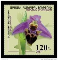Armenia (Nagorno-Karabakh) 2017 Mih. 138 Flora. Flowers. Orchid. Caucasian Ophrys MNH ** - Armenia