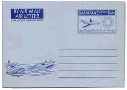 Bahamas Aérogramme N°10 Aerogram Air Letter Entier Entero Ganzsache Lettre Carta Belege Airmail Cover - Bahamas (1973-...)