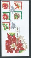 Norfolk Island 2001 Christmas Flowers Set Of 5 On Official FDC - Norfolk Island