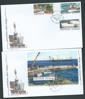 Norfolk Island 2004 Working Ships Set Of 3 & Miniature Sheet On 2 Official FDC - Norfolk Island