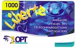 Nouvelle Caledonie Liberte Telecarte Phonecard Prepayee Prepaid Ut. 1000 F Annuaire Sport Ut Used  TBE - New Caledonia