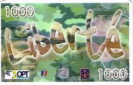 Nouvelle Caledonie Liberte Telecarte Phonecard Prepayee Prepaid Ut. 1000 F Armee Rimap Bataille Bir Hakeim Ut Used  TBE - Nueva Caledonia