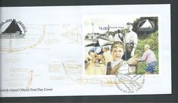 Norfolk Island 2000 $4.00 Whaler Project Miniature Sheet On Official FDC - Norfolk Island
