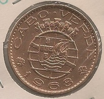 Moeda Cabo Verde Portugal - Coin Cabo Verde -  1 Escudo 1968 - MBC ++ - Cape Verde
