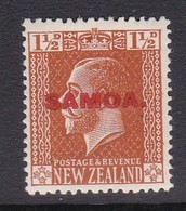 Samoa SG 136 1916-19 New Zealand Stamp King George V Overprinted,one And Half Penny Orange Brown,Mint Hinged - Samoa