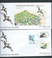 Norfolk Island 2000 Providence Petrel Set 3 & Miniature Sheet On 2 Official FDC - Norfolk Island