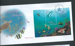 Norfolk Island 1998 Reef Fish Miniature Sheet On Official FDC - Norfolk Island