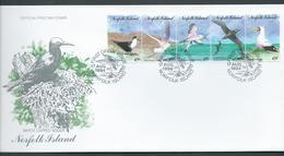 Norfolk Island 1994 Sea Birds Strip Of 5 On Official FDC - Norfolk Island