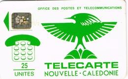 "Nouvelle Caledonie Telecarte Phonecard Cagou Generique 25 Unites NC1B SC5 Trou 6 Entourage Petit Embouti Ut BE 22898 ""8"" - New Caledonia"