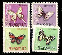 783  Butterflies - Papillons - Corée Nord Yv 369-72 MNH - 4,50 - Vlinders