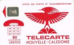 Nouvelle Caledonie Telecarte Phonecard Cagou Generique 80 Unites NC2a SC4 Trou 7 Ut Used BR - New Caledonia