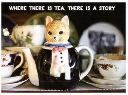 (103) Avanti Australia Card - Tea Pot Cat - Belle-Arti