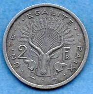 (r65)  DJIBOUTI  2 Francs 1977 - Djibouti