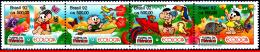 Ref. BR-2373A BRAZIL 1992 COMICS, ECOLOGY, FLOWERS, BIRDS,, BUTTERFLY, FAUNA,FLORA, MI# 2479-82, MNH 4V Sc# 2370-2373 - Hummingbirds