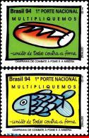 Ref. BR-2509-10 BRAZIL 1994 HEALTH, AGAINST FAMINE & MISERY,, FOOD, MI# 2610-2611, SET MNH 2V Sc# 2509-2510 - Contre La Faim