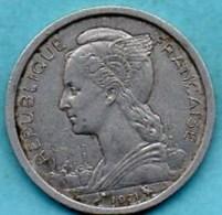 (r65)  FRENCH AFARS & ISSAS  1 Franc  1971 - Djibouti