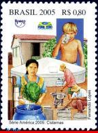 Ref. BR-2963 BRAZIL 2005 HEALTH, CISTERNS,AGAINST POVERTY,, AMERICA ISSUE, UPAEP, MNH 1V Sc# 2963 - Brésil