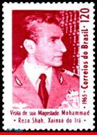 Ref. BR-998 BRAZIL 1965 FAMOUS PEOPLE, VISIT OF SHAH MOHAMMED, RIZA PAHLAVI OF IRAN, MNH 1V Sc# 998 - Célébrités