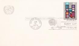 United Nations New York GS/Postal Stationary 6c FDC Cancel 1973  (DD20-13) - New York -  VN Hauptquartier