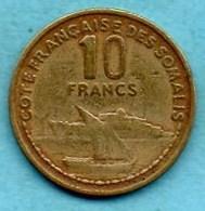 (r65) FRENCH SOMALILAND /  10 Francs 1965  COTE FRANCAISE DES SOMALIS / DJIBOUTI - Djibouti