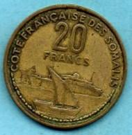 (r65) FRENCH SOMALILAND /  20 Francs 1952  COTE FRANCAISE DES SOMALIS / DJIBOUTI - Djibouti